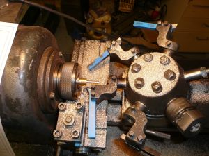The production of parts for the T5 on a revolver lathe